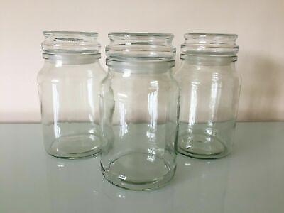 X3 Douwe Egberts Coffee Jars Sweets Arts Crafts Glass Air Tight Lids 190g Ebay