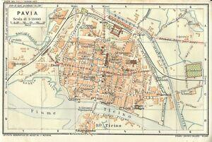 Pavia Cartina.Dettagli Su Pavia Mappa Touring Club 1914 Carta Geografica