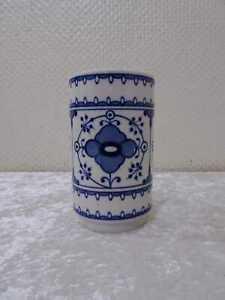 DDR Design Lichte Fine China Porzellan Vase - Vintage - Echt Kobalt - Strohblume