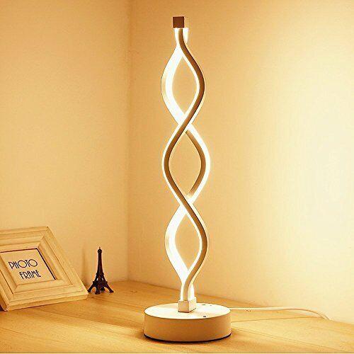 Elinkume 12W TWIST LED Lampada da tavolo, bianco caldo – Moderno Arredamento della luce