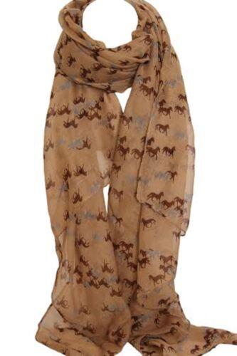 Elegant Horse Print Scarf Scarves Stole Wrap Shawl Sarong