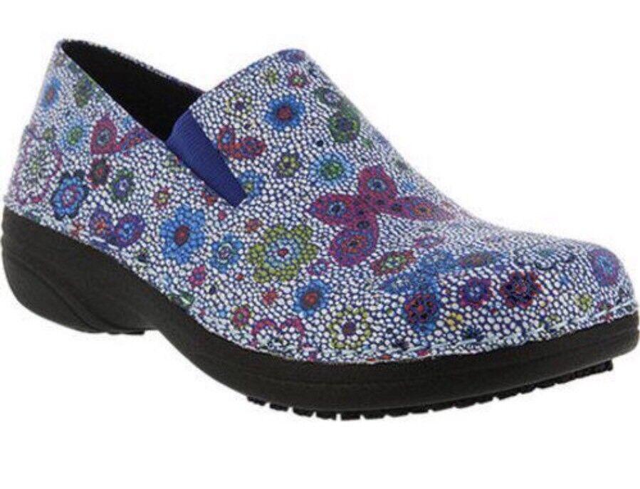Spring Step Women's Ferrara Slip On Shoe Vegan Butterfly Flower Size 9