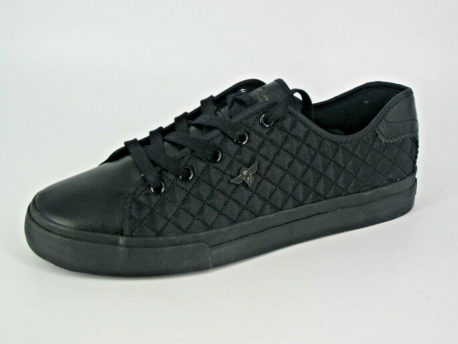 CREATIVE RECREATION KAPLAN QUILT TRAINERS BLACK UK 8 EU 42 NH12 94