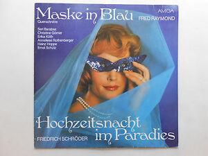 Schallplatte-ST33-Fred-Raymond-Maske-in-Blau