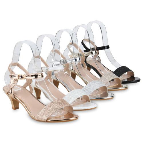 Damen Abiball Riemchensandaletten Metallic Hochzeit Abendschuhe 826496 Schuhe