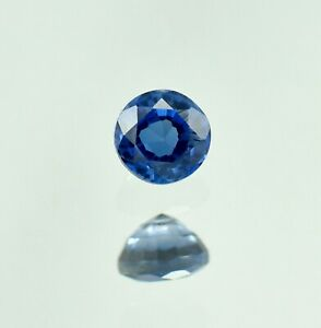 Natural Flawless Montana Blue Sapphire Loose Round Gemstone Cut 0.95 Ct - 5.10mm