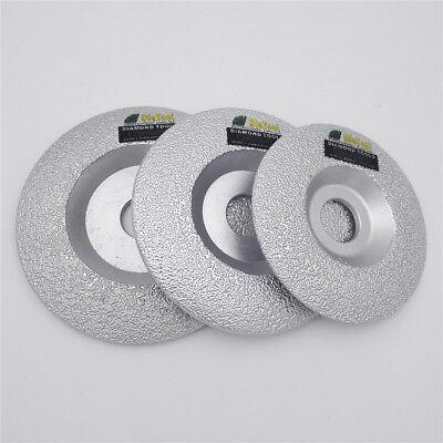 "DIATOOL 4/"" 4.5/"" 5/"" 100//115//125mm Vacuum Brazed Diamond Grinding Cup Wheel Disc"