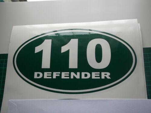X 2 ovales Land Rover Defender Autocollant Set Autocollant Vinyle 130 90 110