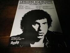 BERNARD LAVILLIERS - Publicité de magazine / Advert !!! LA VILLETTE !!!!!!!!!!!