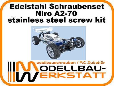 XXL Edelstahl Schrauben-Set LRP S10 Blast 2 BX TX MT SC TC stainless screw set