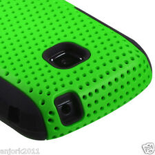 Samsung Galaxy Proclaim Illusion Mesh Hybrid Case Skin Cover Green Black