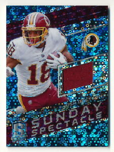 JOSH-DOCTSON-2018-Spectra-Sunday-Spectacle-Neon-Blue-Jersey-20-99-Redskins