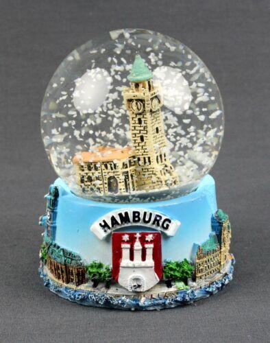 "Petite boule de neige Hambourg /""atterrissage de ponts/"" Schüttelkugel Glitzerkugel souvenir"
