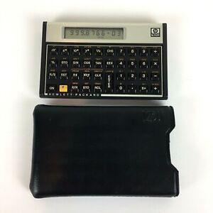 HP-10C-Scientific-Calculator-Hewlett-Packard-w-case-and-batteries