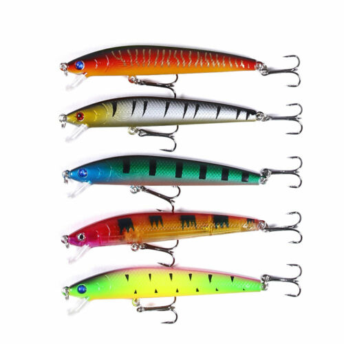 43pcs//set Mixed Fishing Lures Minnow Hard Bait Crankbait Bass Tackle Wobbler