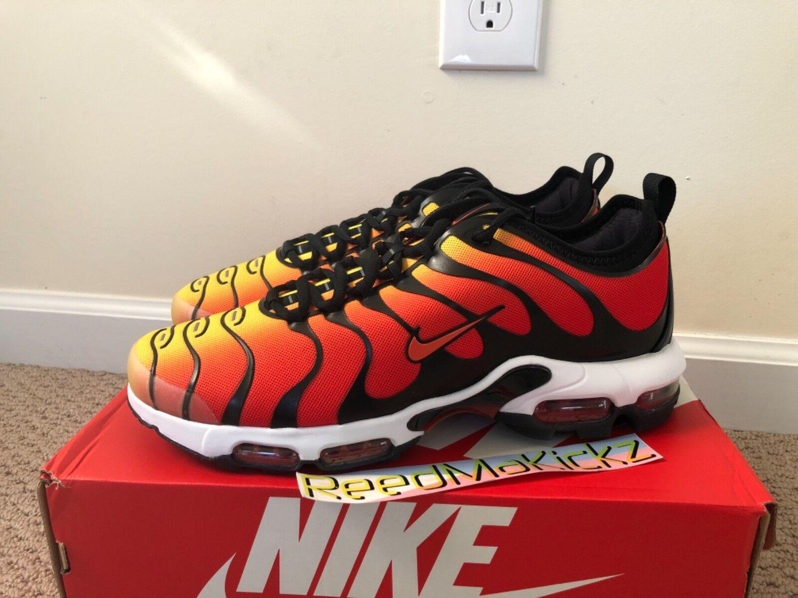 Nike Air Max Plus TN Ultra Black Team orange Tiger Mens sizes 898015 004
