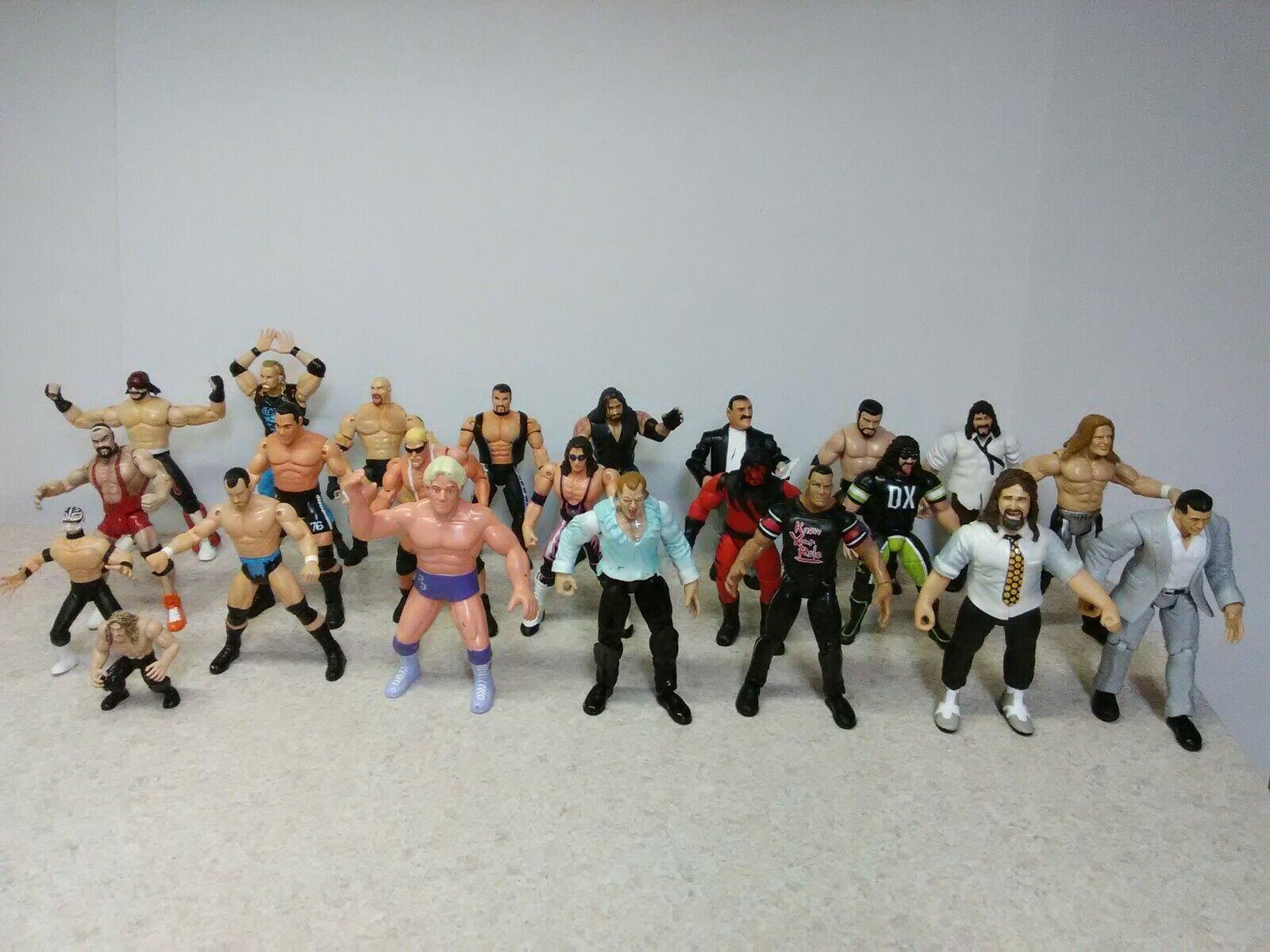 Lot Of 22 Wrestling azione cifras 1998-1999 Jakks Pacific  Marvel   giocattolo Biz