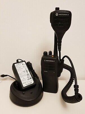 Vornehm Motorola Gp340 Uhf 430 - 470 Top Zustand Mit Netzteil + Handmikrophone