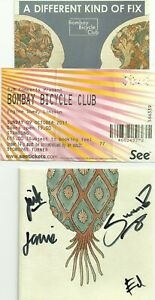 BOMBAY-BICYCLE-CLUB-LINCOLN-2011-TICKET-DIFFERENT-KIND-OF-FIX-CD-SIGNED