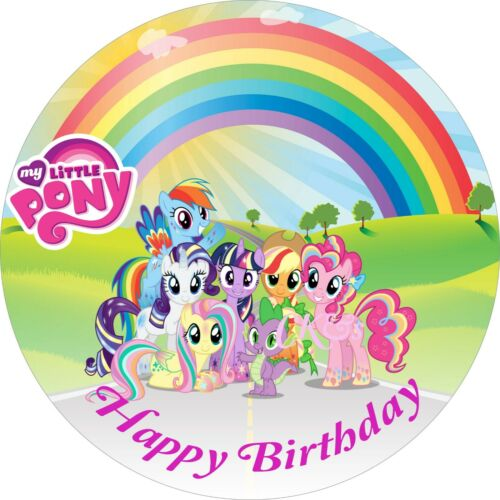 My Little PONY 7 Inch Edible Image Cake Cupcake Toppers// Party//Birthday