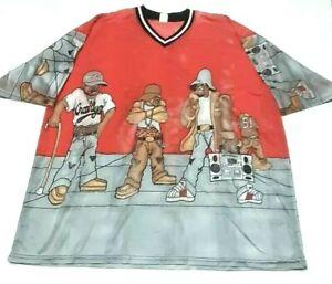 Vintage-90s-Crooklyn-Dodgers-Herren-XL-Shirt-Hip-Hop-Rap-VTG-2pac-Biggie-Gangsta