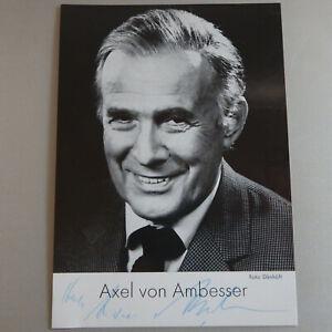Clever Autogramm Axel Von Ambesser 1975 Stabile Konstruktion 54269