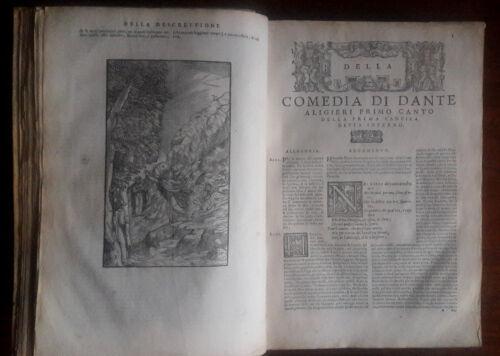 DANTE-La-Divine-Comedie-1596-In-folio-96-gravures-velin-d-039-epoque