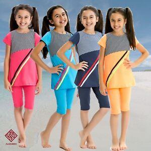 AlHamra-AL8061-Modest-Burkini-Swimwear-Kids-Girls-Muslim-Islamic-2-pc-Age-6-12