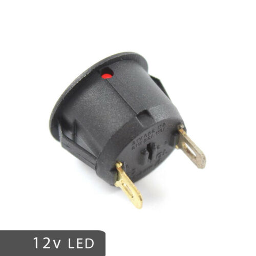 LED 12v Round Warning Indicator Dash Lights RED AMBER GREEN BLUE Battery Oil