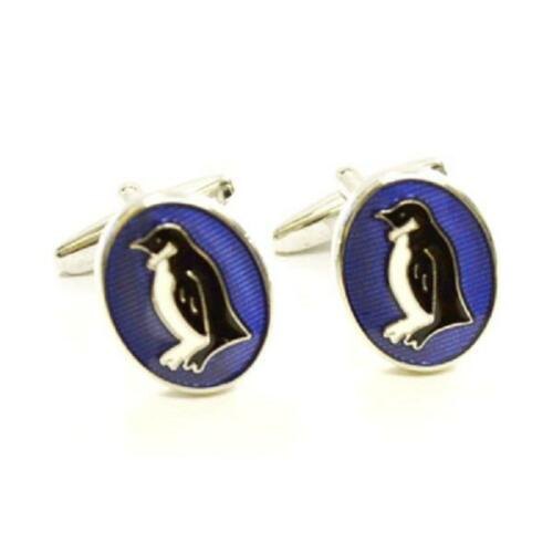 Oval Esmaltada Penguin Gemelos Cruise Party ornitólogo actual Caja De Regalo