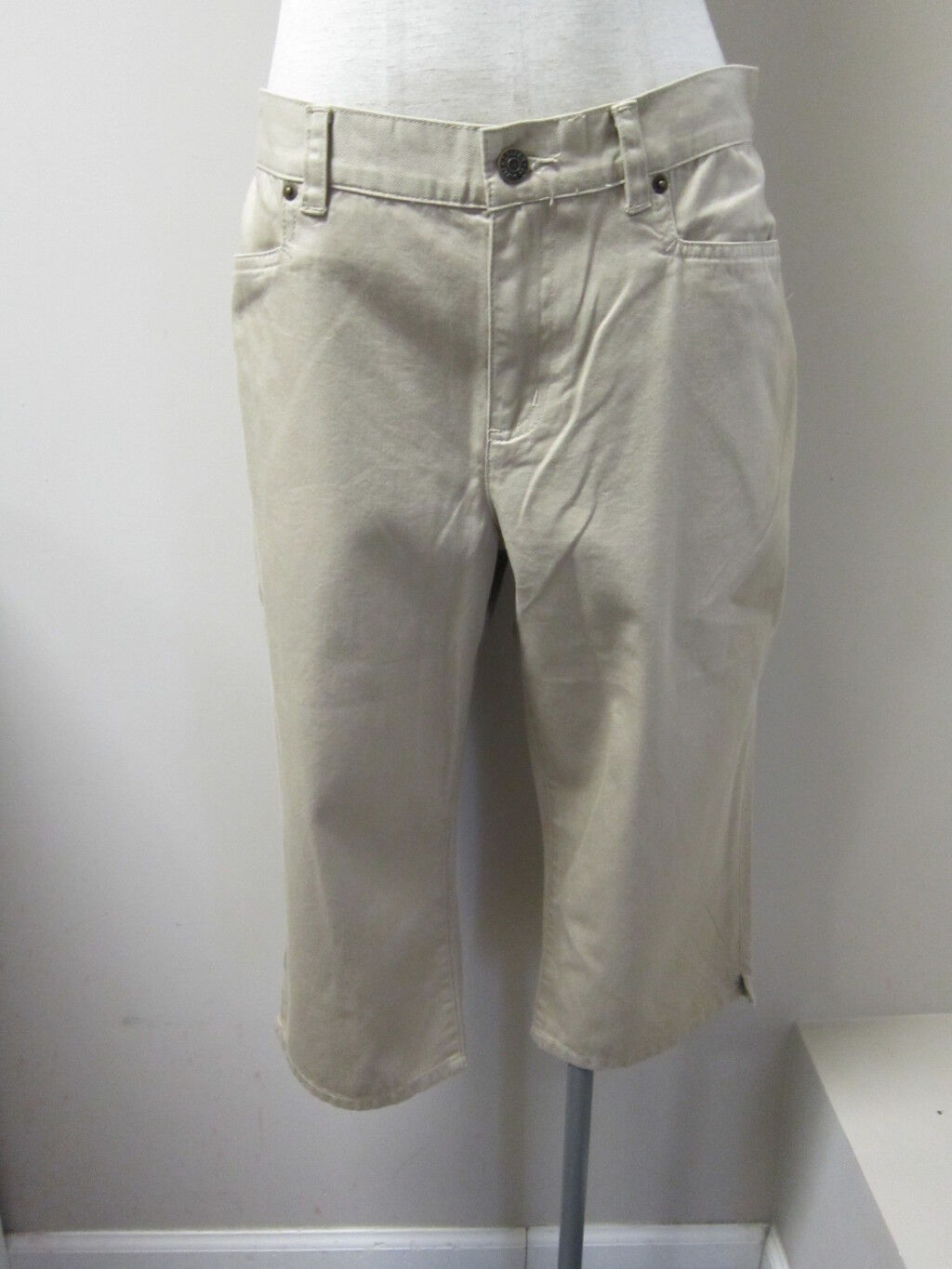 Lauren by Ralph Lauren  pinkanne  Cotton Twill Classic Midcalf Pants 12P NWT  79