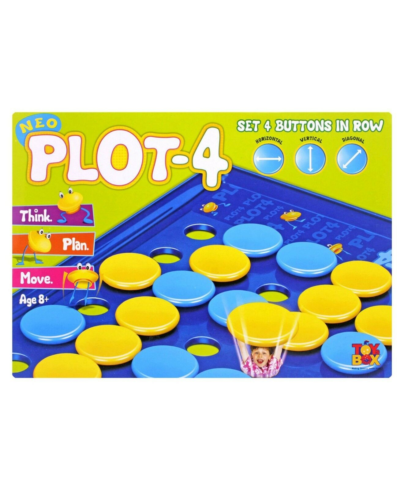 Toys Box Neo Plot-4 Game 2 Players Age 8+
