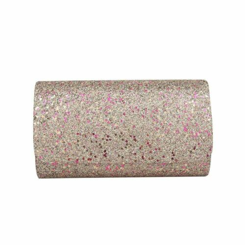 Women wedding shimmer glitter party prom clutch bag purse