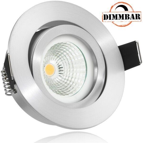 LED Einbaustrahler Set EXTRA FLACH (35mm) in Aluminium matt mit LED Markenleucht | Attraktives Aussehen  | Ausgezeichnete Leistung  | Großartig