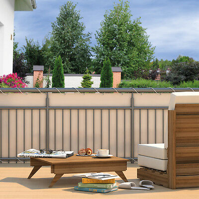 Balkon Sichtschutz Sonnenschutz Windschutz Garten Zaun Terrasse Balkonbespannung