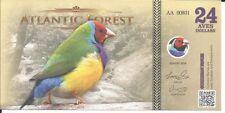 ATLANTIC FOREST BILLETE 24 AVES DOLLARS 2016