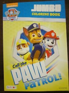 Details About Nickelodeon Paw Patrol Call The Paw Patrol Jumbo Coloring Book