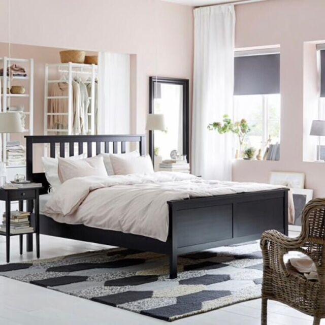 Hemnes Ikea Bett Komplett 140 X 200 Cm Holz Schwarz Guter Zustand Ebay