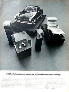 1969 Volkswagen Karmann Ghia Vintage Most Beautiful Things Original Print Ad