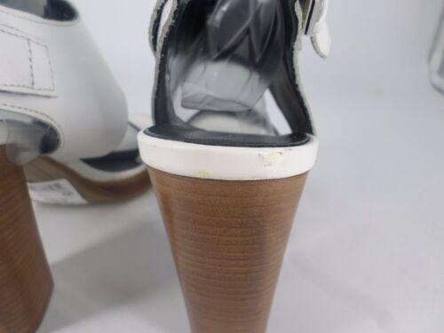 Next Js079 Leather Sandals Sales White Eu 7 Heel 04 Cc Block 41 Uk AqwAUnr1z