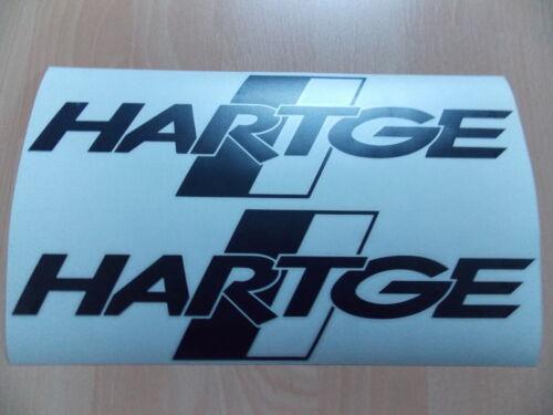 2 x BMW HARTGE Autocollant en Noir 30 x 8,3 cm