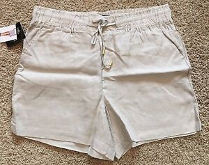 NWT-Women-039-s-Sandstone-Ellen-Tracy-Linen-Casual-Shorts-XL