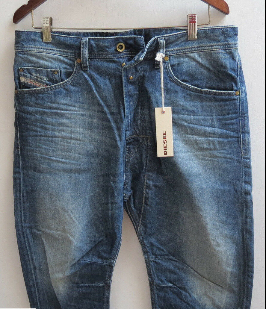 Diesel Men Ankle Jeans 32 W x 32 Narred 814A Regular Carred Narred New with Tags