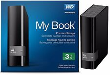 WD Western Digital 3TB MY BOOK External Hard Drive 3.0 USB WDBFJK0030HBK 3 TB