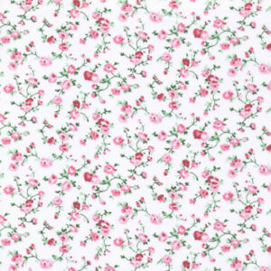 Tiny Dot Lawn Poly Cotton Cream Delicate Fabric Nursery Bunting Patchwork