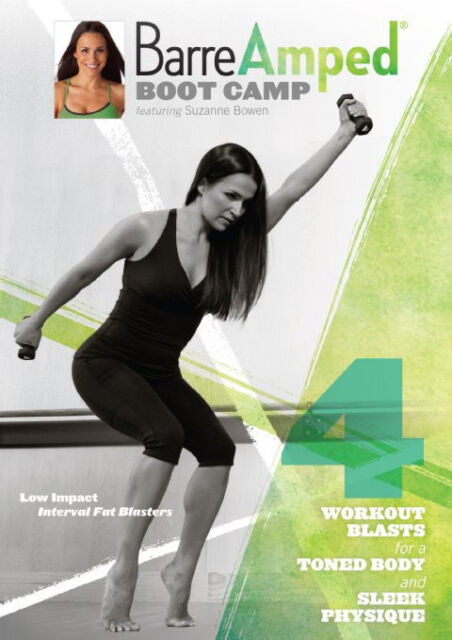 BARREAMPED BOOTCAMP BARRE AMPED EXERCISE DVD SUZANNE BOWEN NEW SEALED WORKOUT