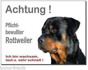 Hunde Außen- & Türdekoration Zielstrebig Rottweiler-hund-aluminium-schild-0,5-3 Mm Dick-türschild-warnschild-hundeschild Moderne Techniken