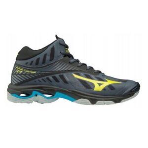 huge selection of 88069 3d56b Dettagli su scarpe pallavolo wave lightning z4 mid uomo donna volley alta  grigia V1GA180547