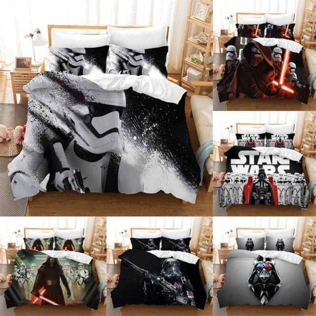 2019 Star Wars 3D Bedding Sets 3PCS Of Duvet Cover Soft Pillowcases~4 UK Sizes