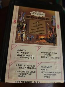 101 Strings Play Irving BERLIN Favorites 8 Track Tape Ampex 8 track Tested VG